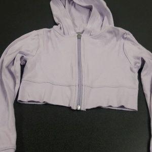 Girls sz8 justice cropped hoodie